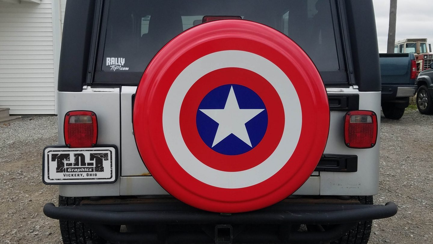 Jeep Captain America Wheel Cover