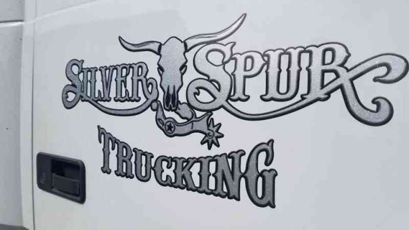 Silver Spur Trucking door sign