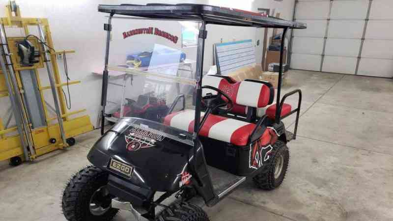 BarringtonBroncosGolfCart1