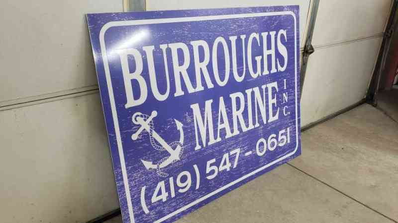 Burroughs Marine Sign